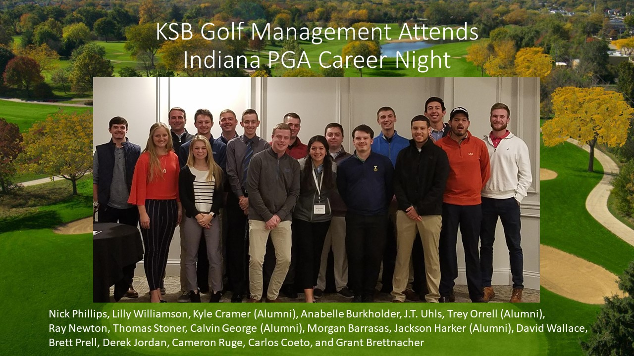 Golf Management at PGA Event