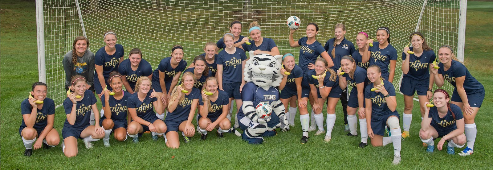 Soccer students celebrate national banana day