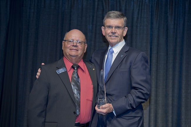 Oeder honored by Trine with Pillar of Success