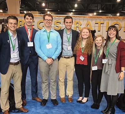 Two Trine University biomedical engineering students presented posters at the 51st annual Biomedical Engineering Society (BMES) Annual Meeting in October.